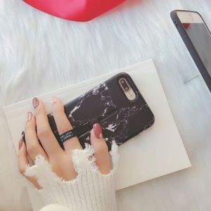 Accessories - iPhone 7/8/Plus/X/XS Marble Loop Ring Stand Case